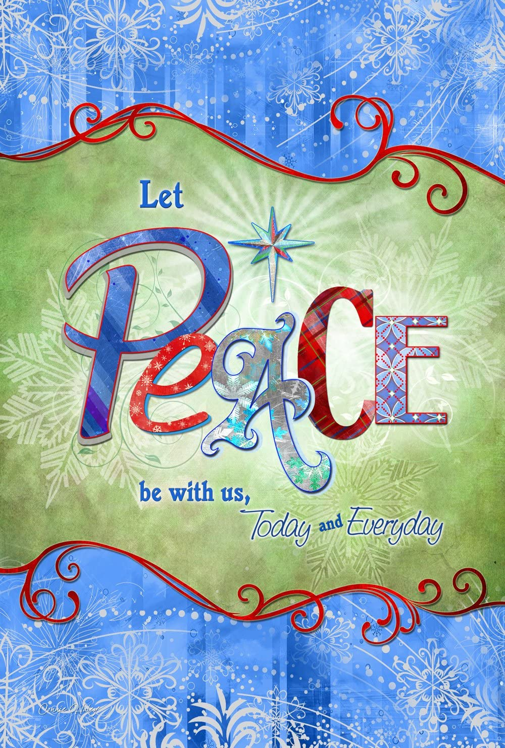 Toland Home Garden 1110114 Peace Be with US 12.5 x 18 Inch Decorative, Garden Flag (12.5