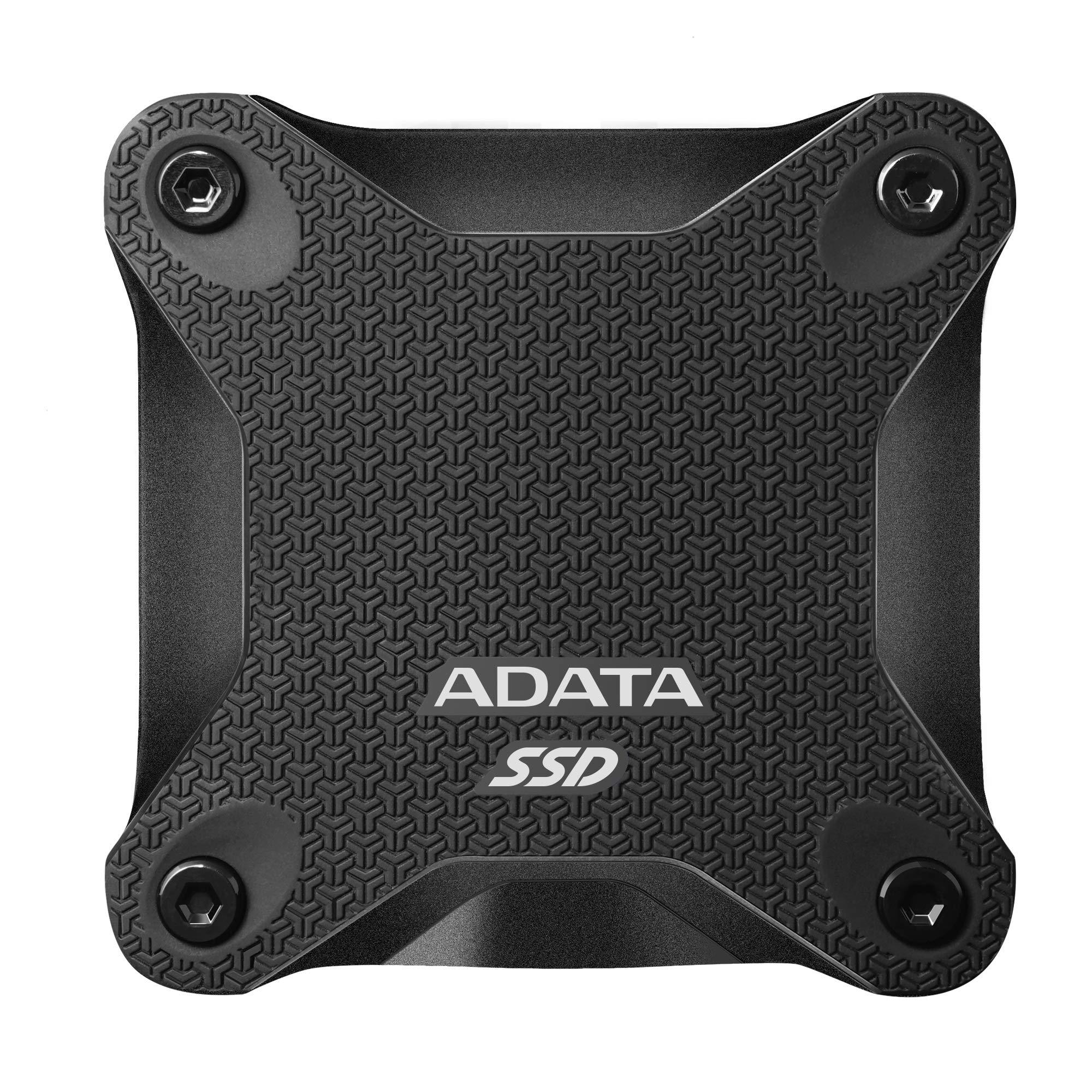 ADATA SD600Q 480GB 3D NAND USB3.2 Ultra-Speed External Solid State Drive Read up to 440 MB/s Black (ASD600Q-480GU31-CBK)