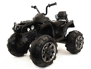 RIRICAR Quad Hero 12V, Ruedas EVA Blandas, Control Remoto 2,4 GHz, Asiento de Cuero, suspensiones, batería 12V7Ah: Amazon.es: Juguetes y juegos