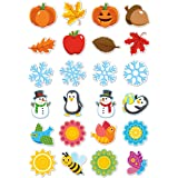 96 Pack - Spring, Fall, Winter Bulletin Board Classroom Decorations - Laminated