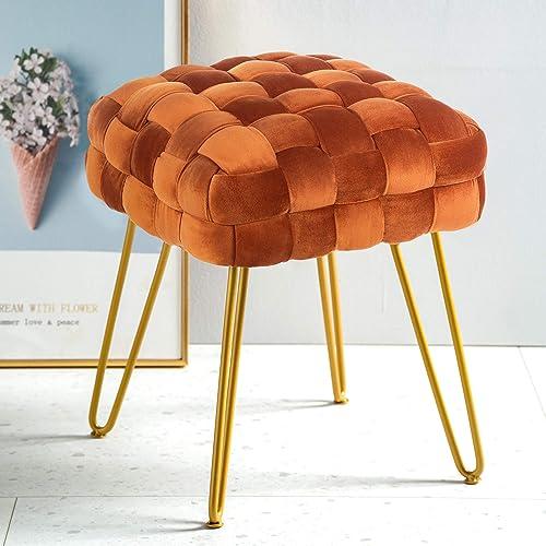 Reviewed: Modern Velvet Square Ottoman,Classical Woven Upholstered Ottoman