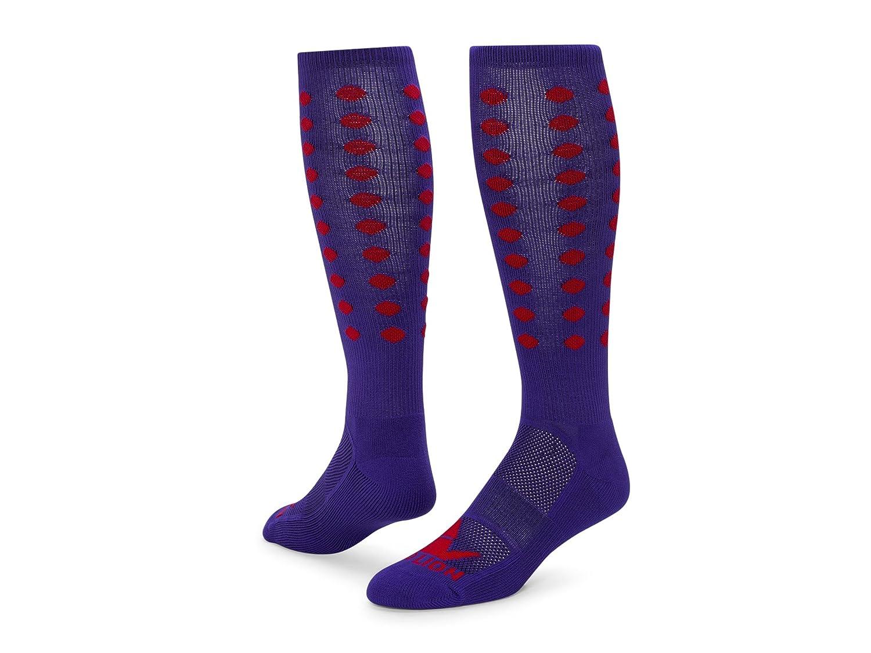 レッドライオンMini Dots Zanyパフォーマンスソックス B00HQGBPH8 Medium|Purple / Red Purple / Red Medium