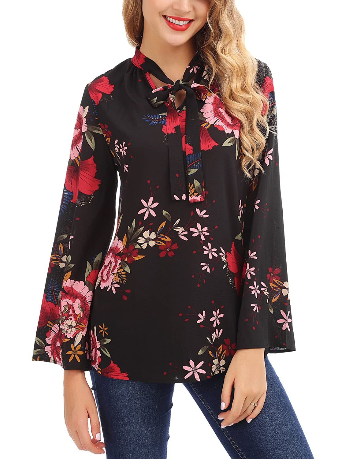 2e8ac49331de7 WOMEN BLOUSE MATERIAL- High quality chiffon tunic shirt. FLORAL BLOUSE -  Crafted from chiffon fabric
