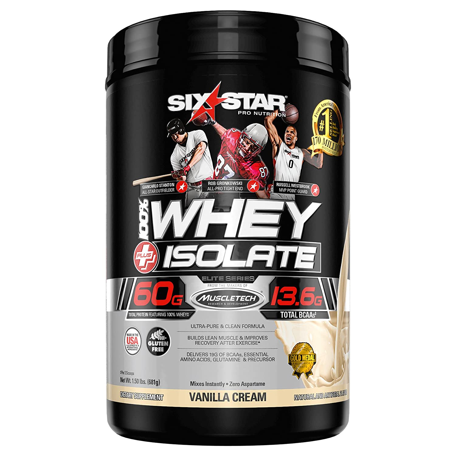 Six Star Pro Nutrition Professional Strength Whey Isolate Elite Series French Vanilla Cream 1.5 lbs by Six Star Pro Nutrition: Amazon.es: Salud y cuidado ...