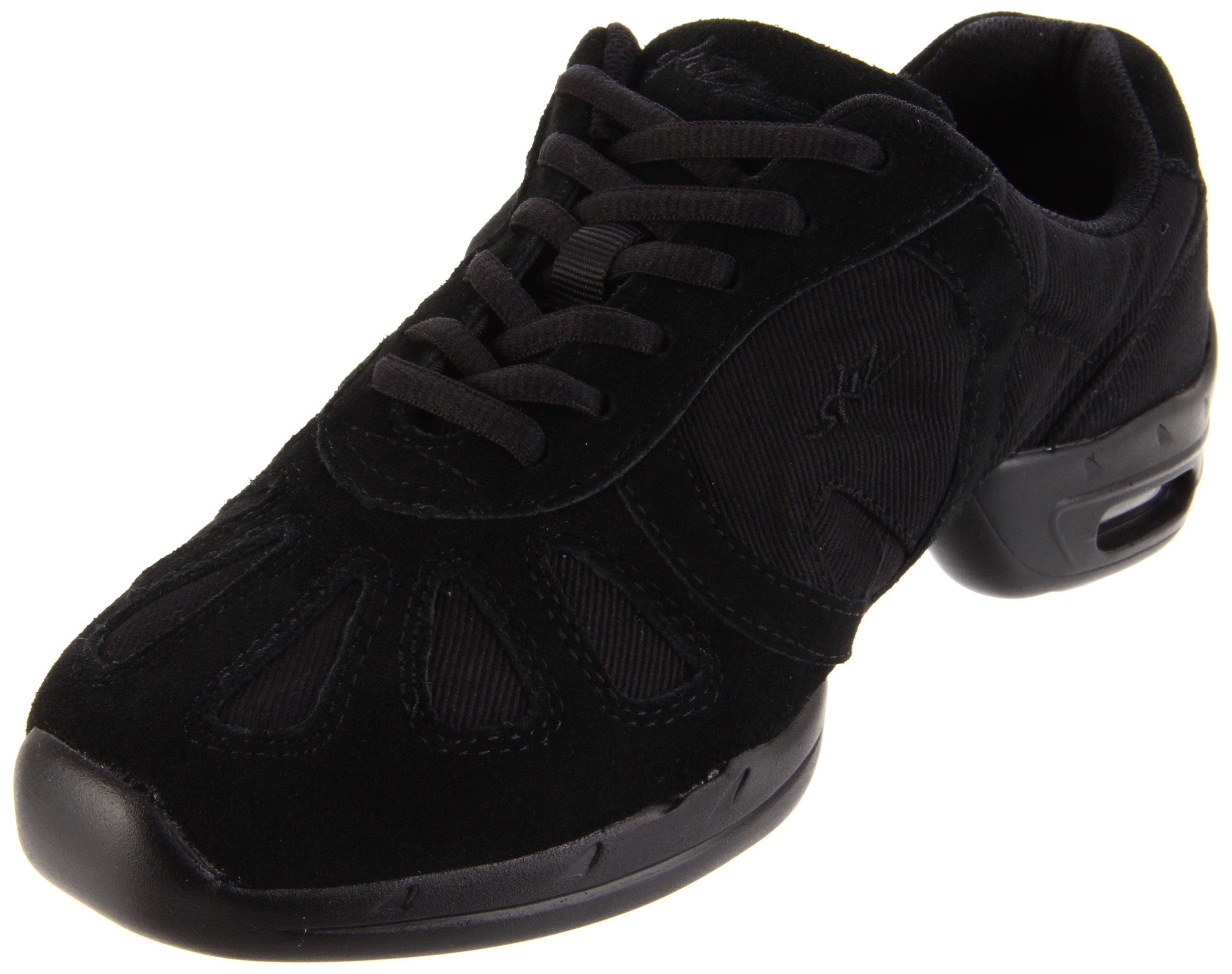 Sansha Hi-Step Dance Sneaker,Black,8 (7 M US Women's)