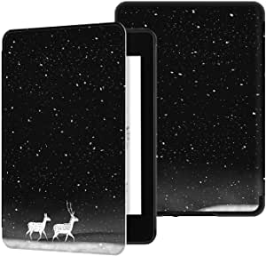 TERSELY Slimshell Case Cover for All-New Kindle Paperwhite 10th Generation-2018 (Model No. PQ94WIF), Smart Shell Cover with Auto Sleep/Wake for Amazon Kindle Paperwhite 10th - Deers