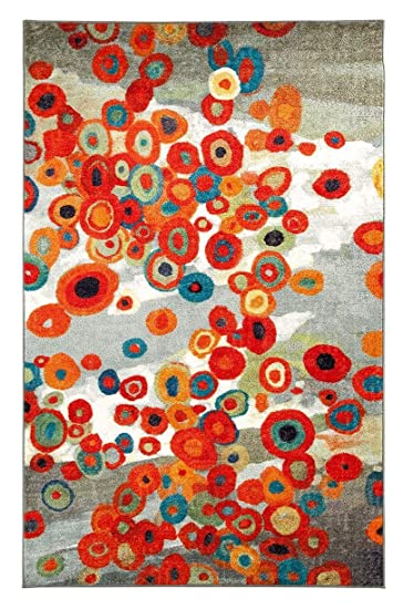 Area Rug 8u0027x10u0027 Rectangle Contemporary Multi Color Color   Mohawk Tossed  Floral Collection