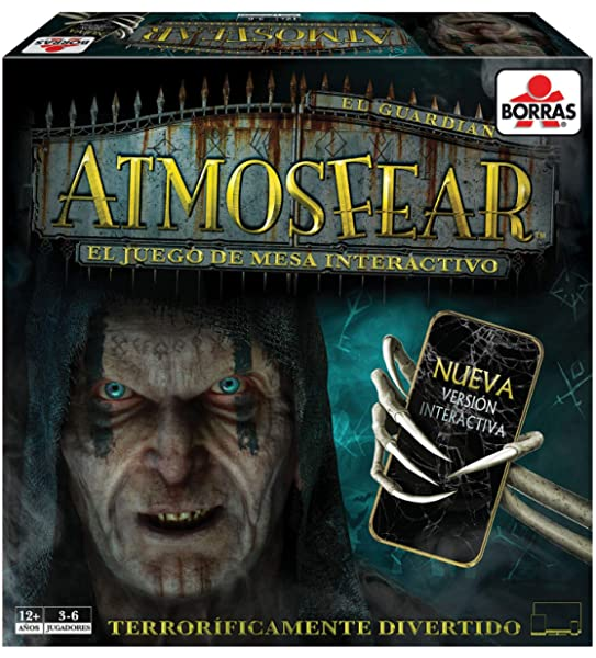 Borras- Atmosfear Juego de mesa familiar de habilidad, estrategia y suspense, versión interactiva con App exclusiva, a partir de 12 años (18354): Amazon.es: Juguetes y juegos