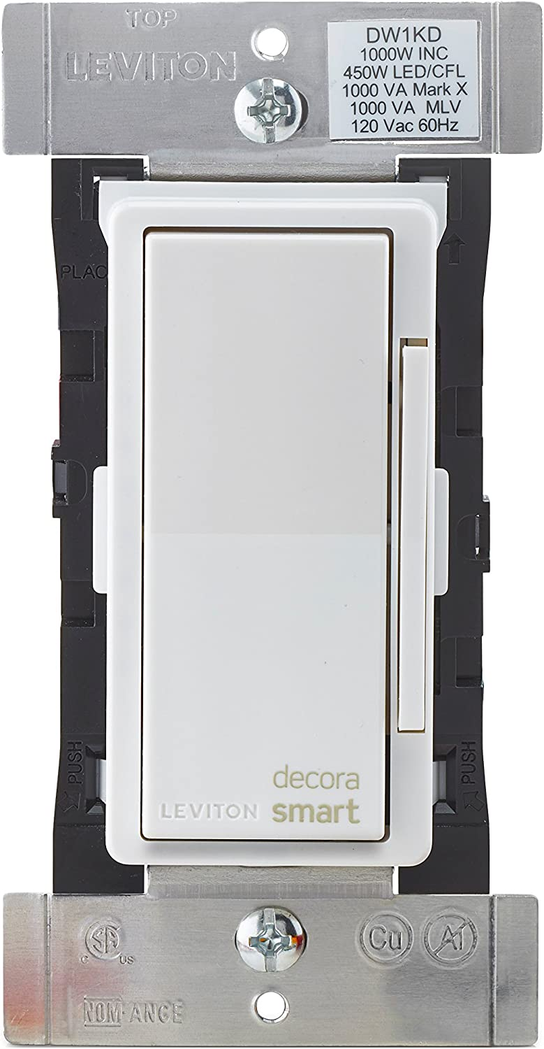 Leviton DW1KD-1BZ Decora Smart Wi-Fi 1000W Universal LED/Incandescent Dimmer, No Hub Required, 10-Pack, Works with Alexa