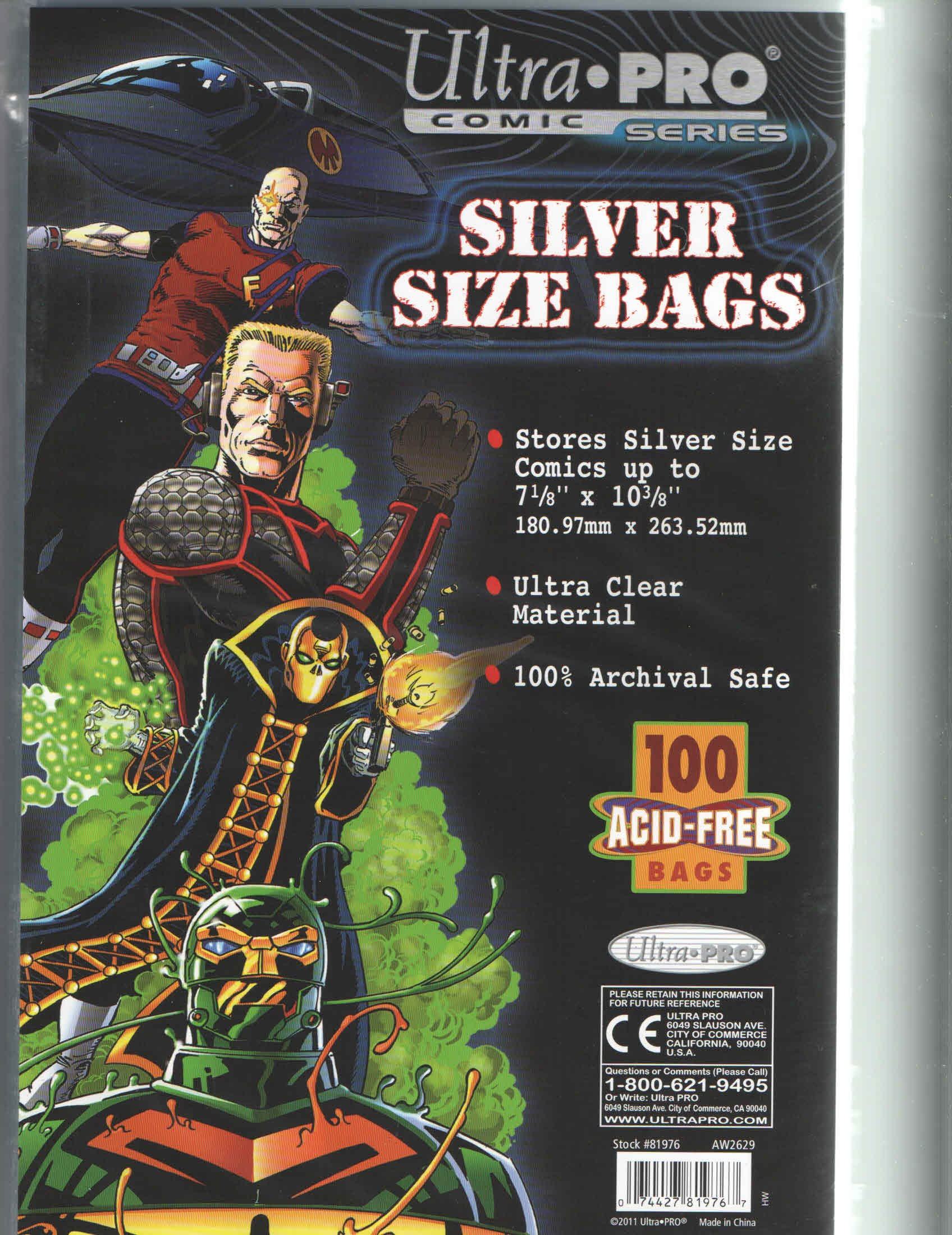1000 Silver Ultra Pro Bags and Boards for Comic Books by Ultra Pro