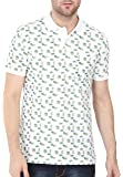BULLMER Men's Half Sleeve Polo T-Shirt - BUL-BFS084B - White/Green