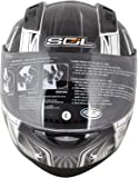 SOL Metal Man Full Face Helmets (Silver, Large)