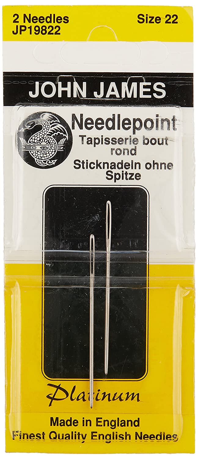 Colonial Needle John James Platinum Tapestry Hand Needles, Size 22 2/Pkg Notions - In Network 73490