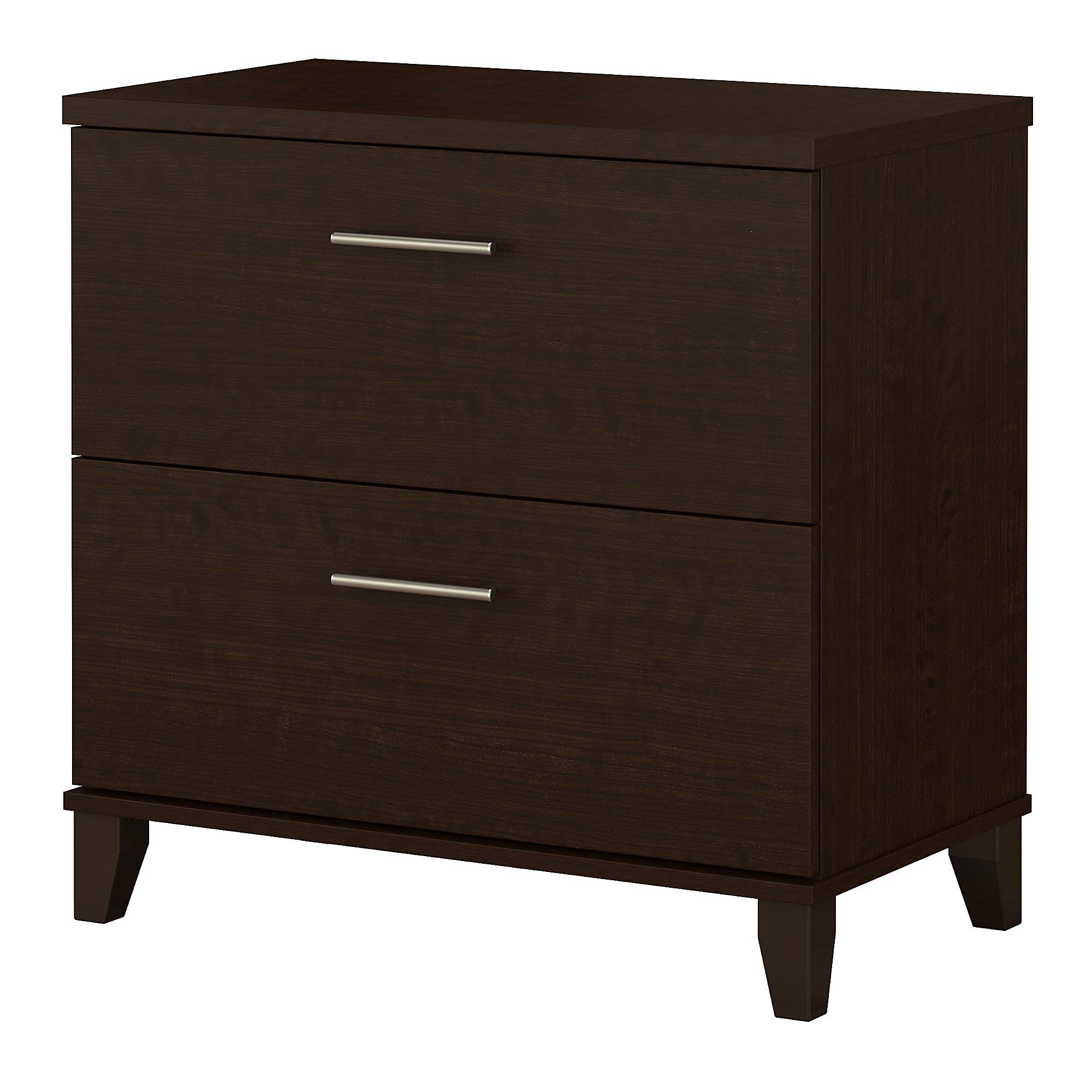 Bush Furniture Somerset Lateral File Cabinet in Mocha Cherry by Bush Furniture