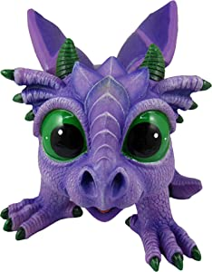 World of Wonders - Dreamland Dragons Series - Amethyst - Collectible Amethyst The Stone Dragon Figurine with Official Birth Certificate | Fantasy Home Decor Accent, Purple
