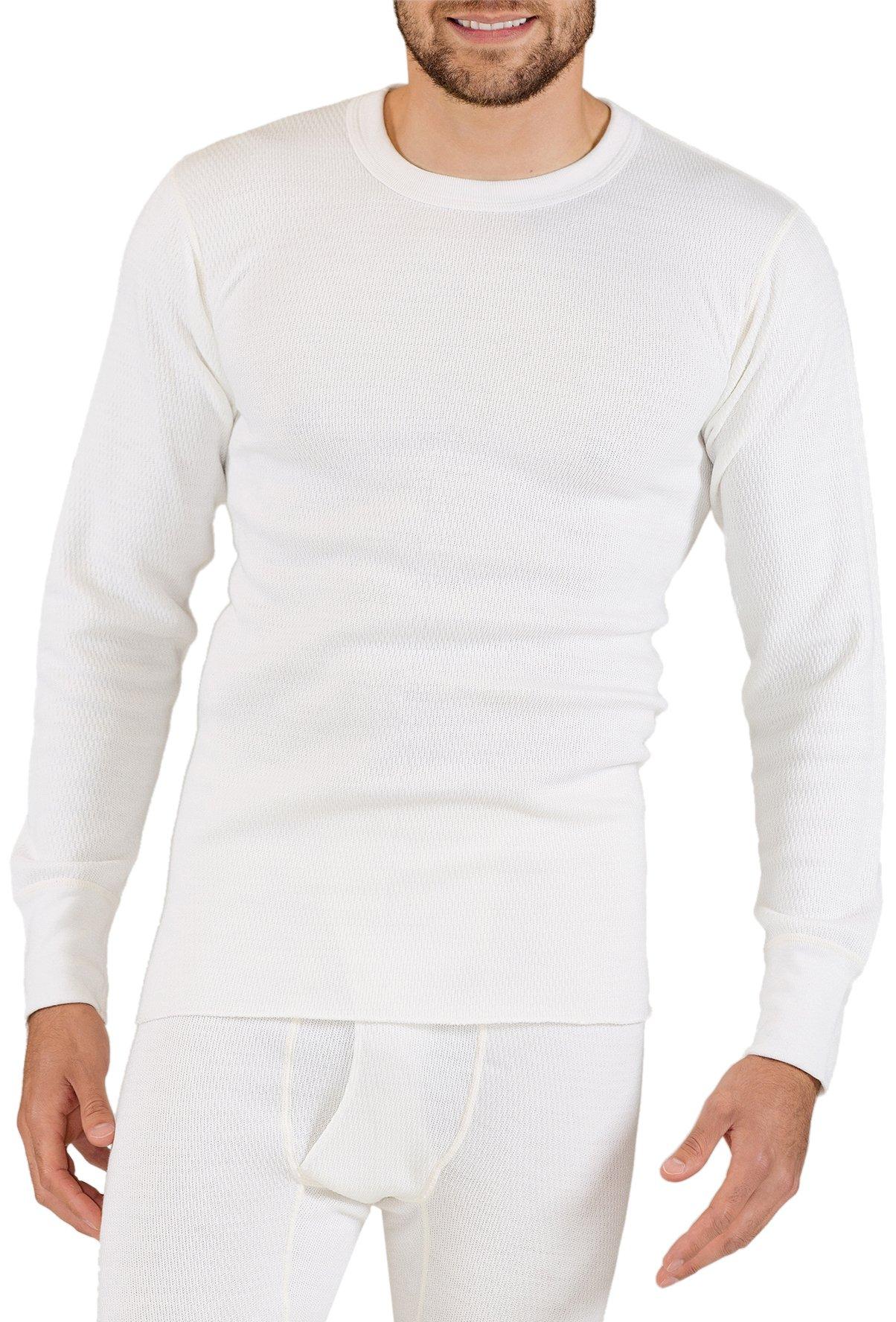 Rock Face Men's Big-Tall 9 oz Heavyweight Big Tall Crew Thermal Shirt, Natural, 3X-Large/Tall