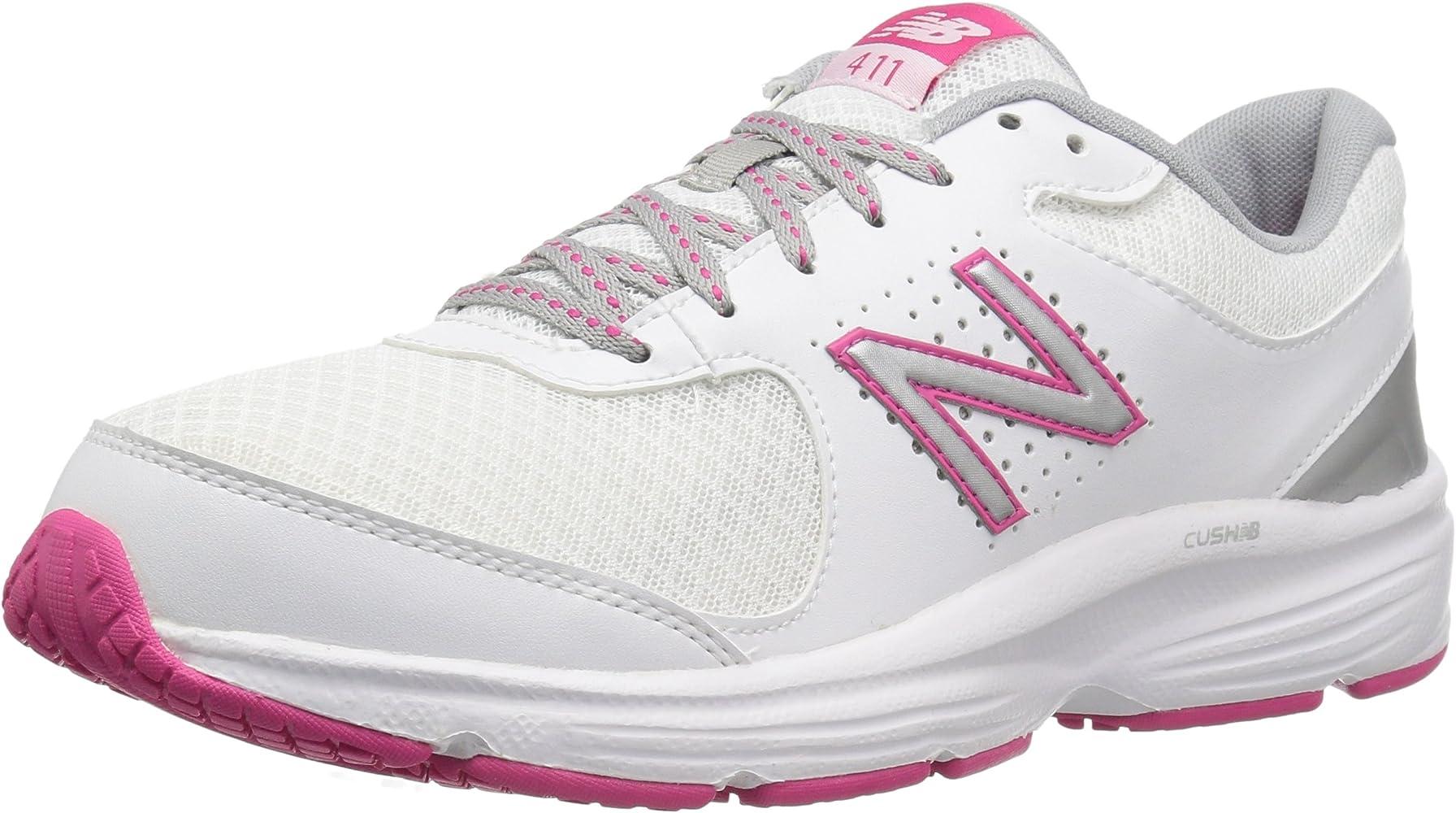 episodio para justificar ratón o rata  Amazon.com | New Balance Women's 411 V2 Walking Shoe, White/Pink, 7.5 B US  | Walking