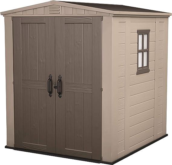 Keter Factor 6x6 Caseta de jardín exterior con escuadra incluida, Marrón Y Beige: Amazon.es: Jardín
