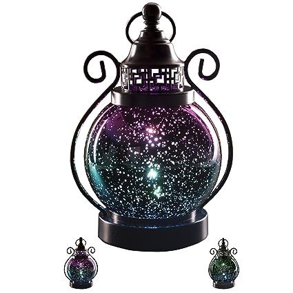 Superieur Christmas Decorative Candle Lanterns,Mercury Glass Sphere Light ,Timer  Function,LED Tabletop Lamps
