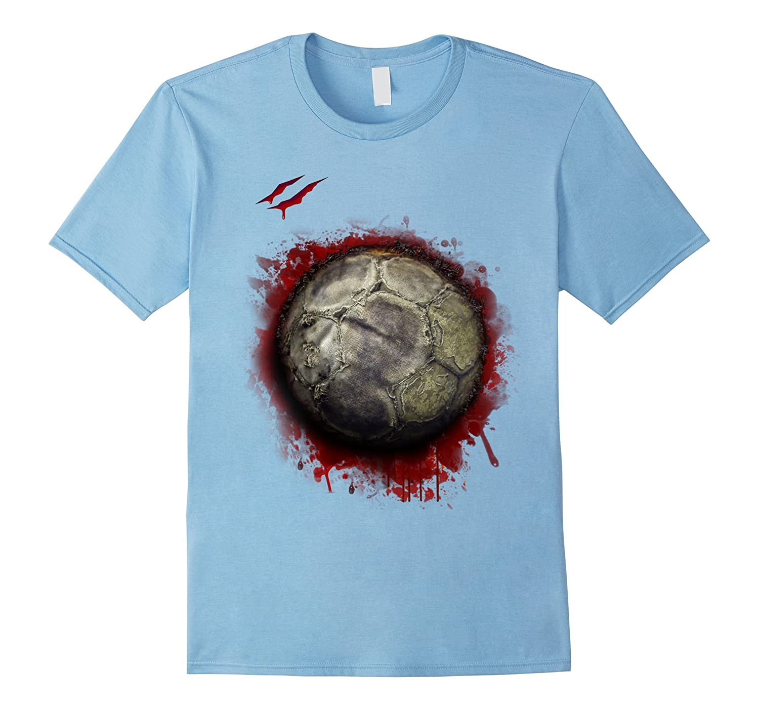 zombie soccer player tshirt halloween 2017-T-Shirt