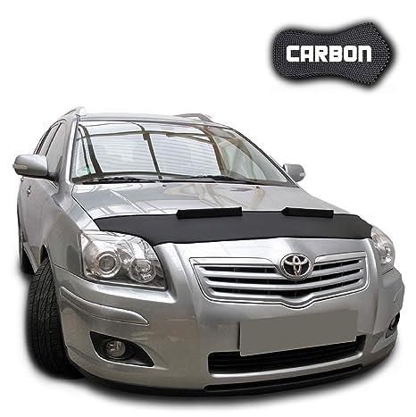 Protector de Capo para Avensis 2 T25 CARBON Bra Protectores Capot Coche máscara Tuning NUEVO: Amazon.es: Coche y moto