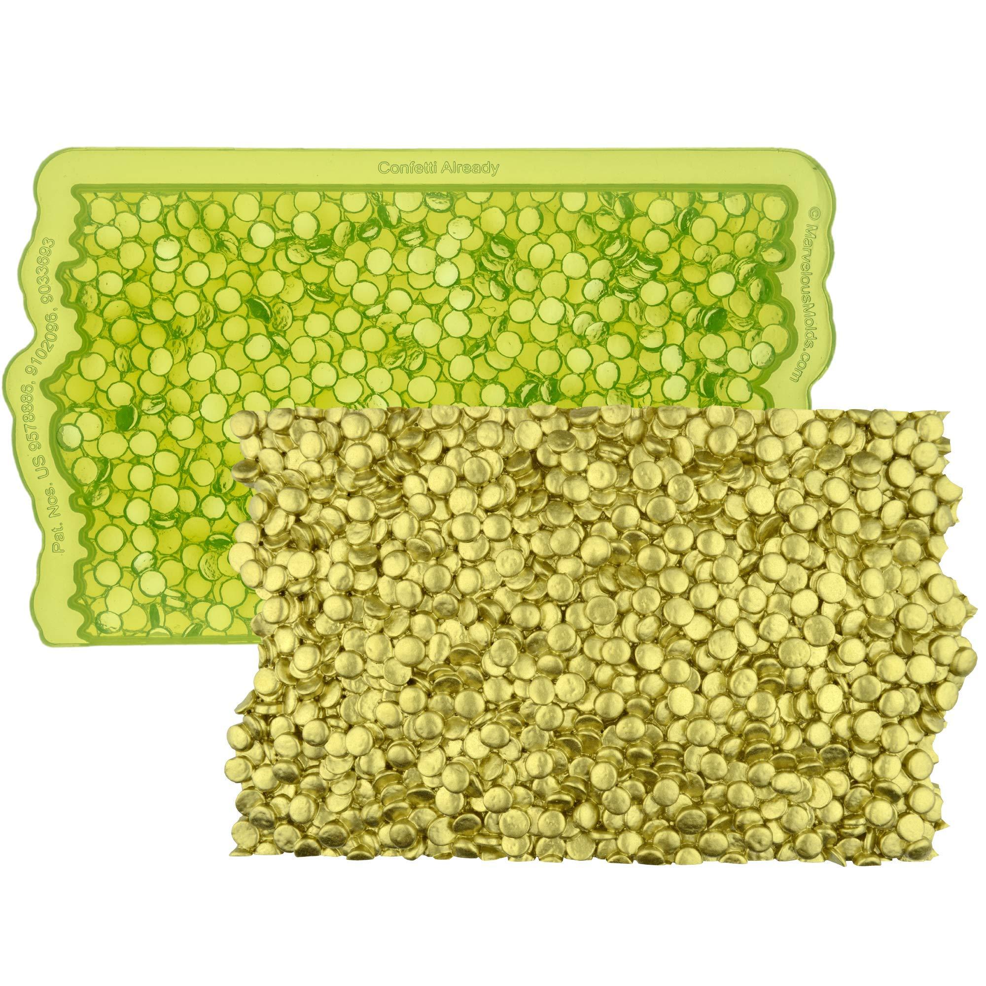 Marvelous Molds Confetti Already Simpress Silicone Mold | Cake Decorating | Fondant Gum Paste by Marvelous Molds (Image #1)