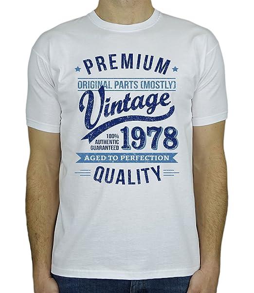 My Generation Gifts 1978 Vintage Year - Aged To Perfection - 40 Cumpleaños Años - Regalo de Cumpleaños Camiseta Para Hombre BqhqmH8Kb