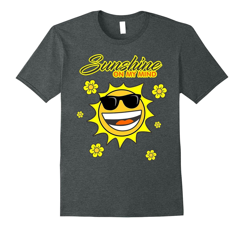 Sunshine On My Mind T-shirt - Fun Summer Beach Sun emoji Tee-Art