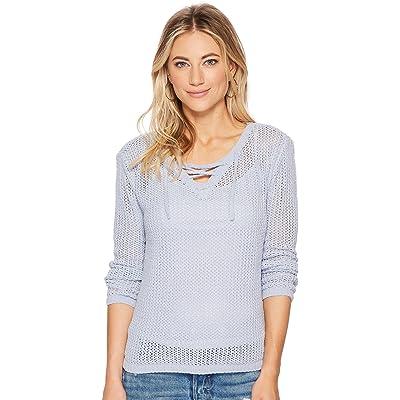 BB Dakota Womens Lily Lace-Up Sweater