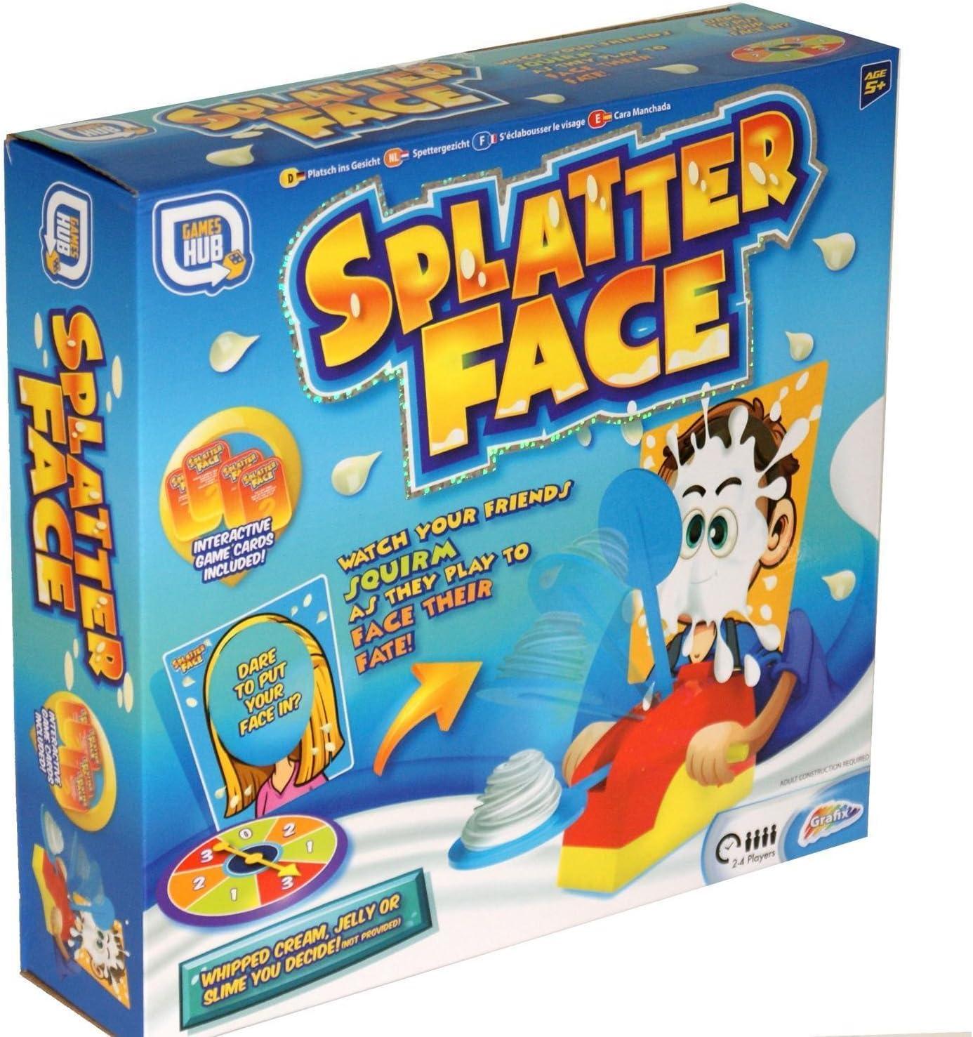 Grafix Splatter Face Cream PIE Juego Actividad NIÑOS DIVERSIÓN NIÑOS Present Party Family: Amazon.es: Juguetes y juegos