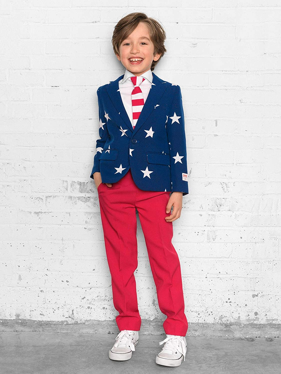 Pants and Tie in Funny Designs OppoSuits Crazy Suits for Boys Aged 2-8 Years in Different Prints Comes with Jacket