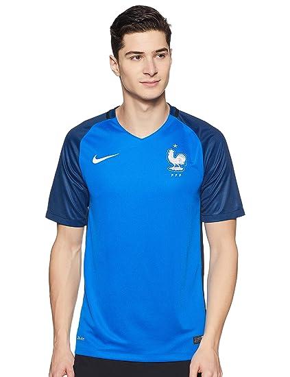 6f9feb821 Amazon.com   Nike France Home Stadium Soccer Jersey (Blue)   Clothing
