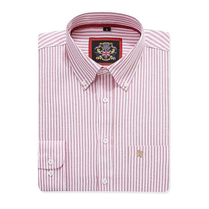 Camisa de Manga Larga para Hombre, Cuello y Bolsillo con Botones ...