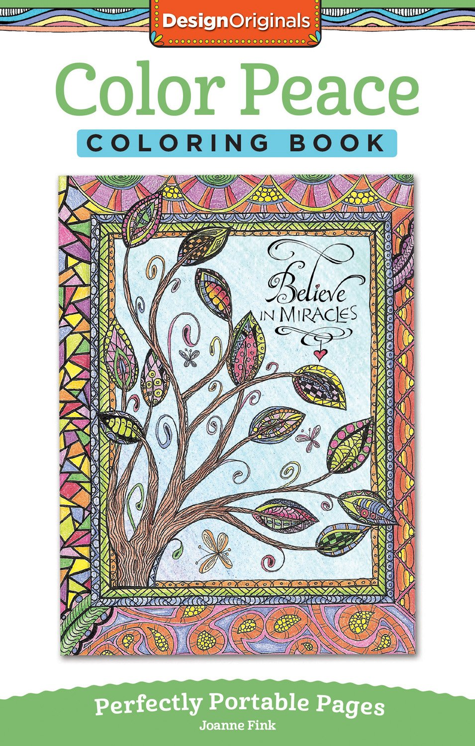 Art color book - Amazon Com Color Peace Coloring Book Perfectly Portable Pages On The Go Coloring Book 9781497200845 Joanne Fink Books
