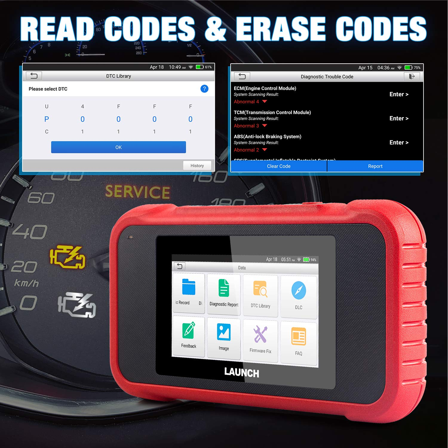 LAUNCH Creader 3008 OBD2 Scanner Automotive Car Diagnostic Tool Support Full OBD2 Function with Battery Voltage Testing Function OBDII Engine Code Reader Diagnostic Tool Lifetime Free Update
