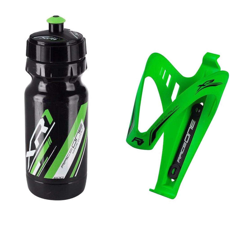 KIT Race Duo X3 Rubberized: Portaborraccia X3 Colore: Nero // Giallo 100/% MADE IN ITALY RO/_KIT/_2/_X3/_RUB/_GFL/_BG Borraccia XR1 ideale per Bici Race // MTB // Gravel // Trekking Bike Raceone.it