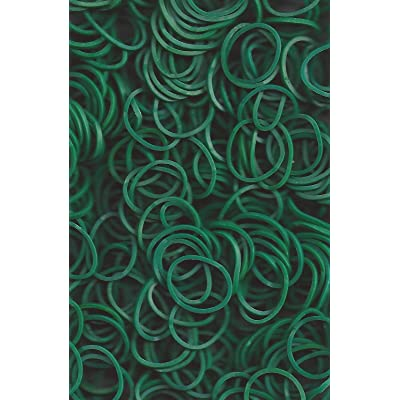 Rainbow Loom Dark Green Opaque Rubber Bands (600 Count) with 24 C-Clips: Toys & Games