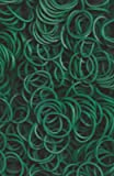 Rainbow Loom Dark Green Opaque Rubber Bands (600 Count) with 24 C-Clips