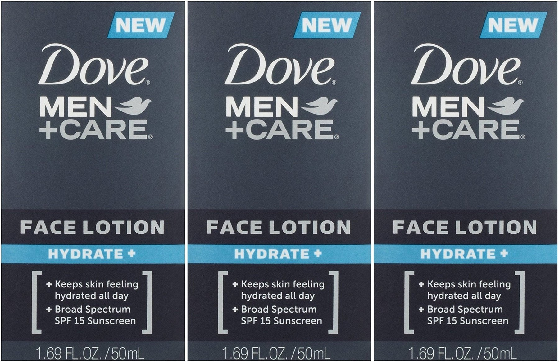 Dove Men + Care Face Lotion Hydrate + 1.69 OZ - Buy Packs and SAVE (Pack of 3) by Dove