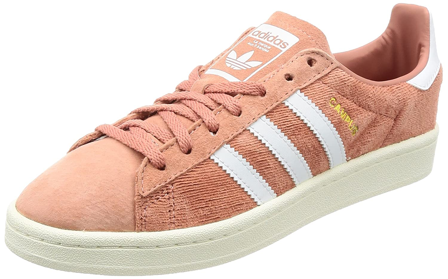 adidas Damen Campus W Fitnessschuhe, Mehrfarbig (Crystal White S16/Crystal White S16/Icey Pink F17), 41 1/3 EU