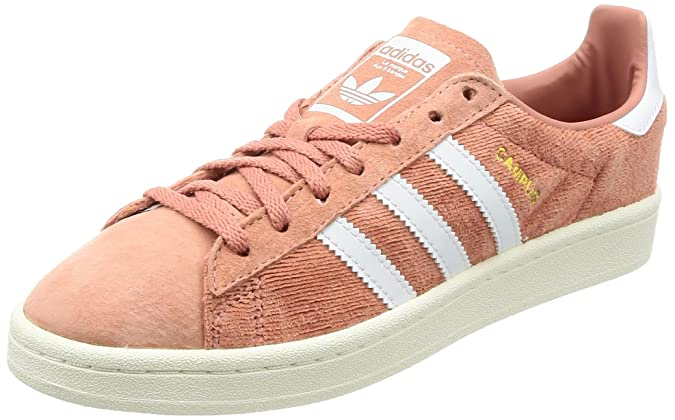 adidas Campus W, Chaussures de Fitness Femme, Multicolore-Gris/Rose (Grey Three F17/Grey Three F17/Icey Pink F17), 41 1/3 EU