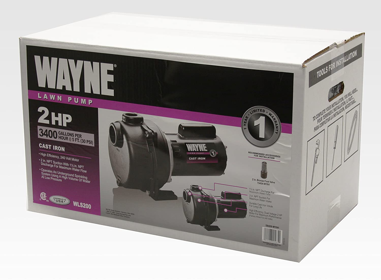 WAYNE WLS200 2 HP Cast Iron High Volume Lawn Sprinkling Pump