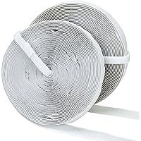 Willingood 10M Klettband selbstklebend, 20MM Breite [Weiß]