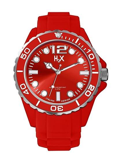 964ec9479b96 Haurex Reloj Analógico para Hombre de Cuarzo con Correa en Caucho SR382UR1   Amazon.es  Relojes