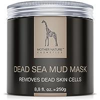 Mother Nature – Masque visage à base de boue de la Mer Morte   Soin pour peaux sèches et impures   Nettoyant pour boutons – Points noirs – acné   Masque anti-âge   250 g