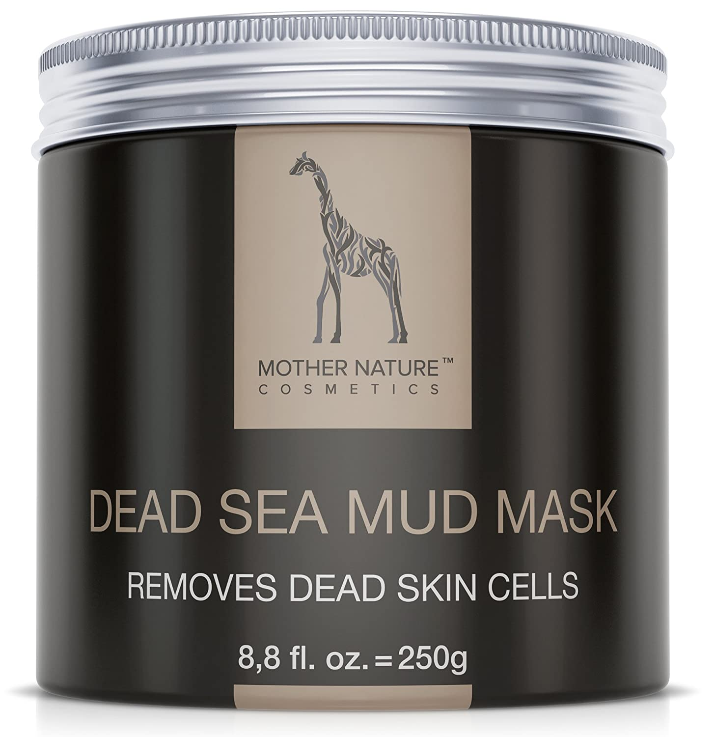 Mother Nature – Dead Sea Mud Face Mask | Care for dry, blemished skin | Cleansing for pimples - blackheads – acne | Anti-aging mask | 250 g S&S GesbR