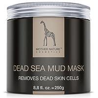 Mother Nature – Masque visage à base de boue de la Mer Morte | Soin pour peaux sèches et impures | Nettoyant pour boutons – Points noirs – acné | Masque anti-âge | 250 g