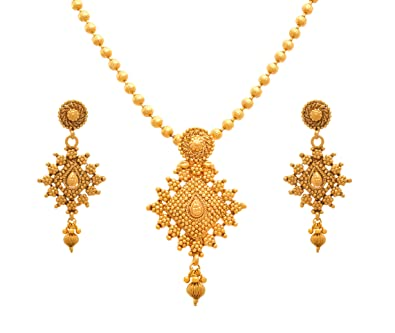 d33355ccfc0759 Buy Jfl - Jewellery For Less Traditional Ethnic One Gram Gold Plated  Designer Pendant Set For Women Online at Low Prices in India | Amazon  Jewellery Store ...