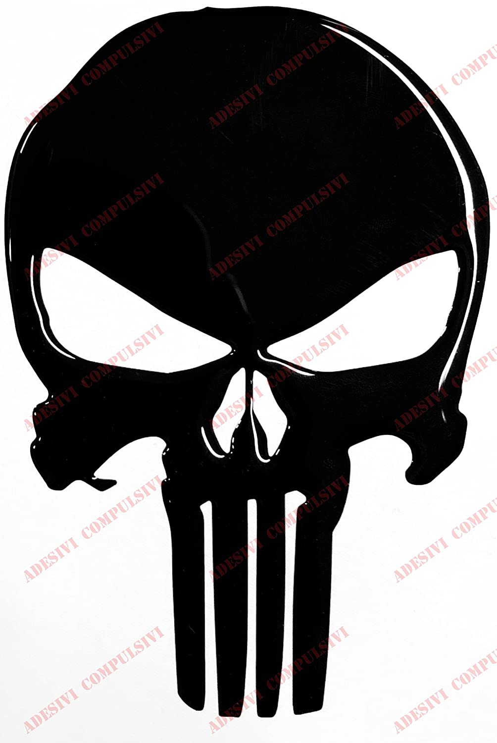 Amazon fr adesivi compulsivi sticker the punisher résine effet 3d sticker pour voiture moto réservoir casque adapté à surfaces lisses et curve