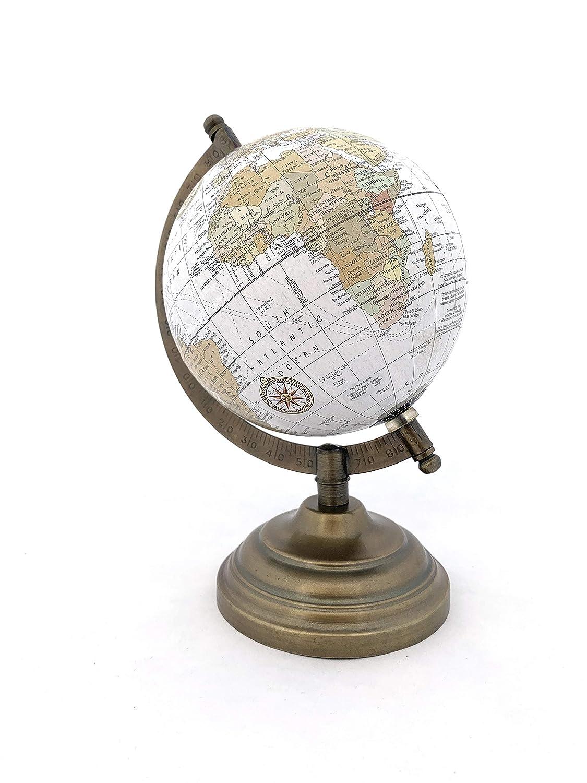 Ottima Idea Regalo. MRome Mappamondo Girevole in Ottone e Legno Globo terrestre Divertente ed educativo